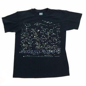 Vntg 90s mens womans L t shirt constellation glows